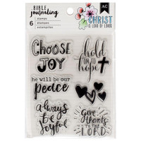 American Crafts - Bible Journaling Clear Acrylic Stamps - Shield