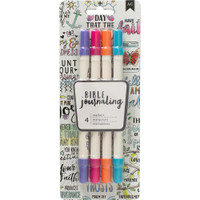 American Crafts - Bible Journaling Dual Tip Markers - Set of 4 - Brights