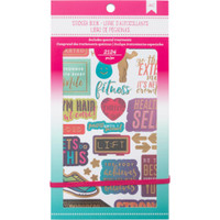 American Crafts - Planner Sticker Book - Fitness