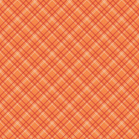 Riley Blake Fabric - Wide Backing - Bee Basics - Lori Holt - Plaid Orange