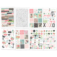 Carpe Diem - Simple Stories - Romance - Stickers - 8 Sheets