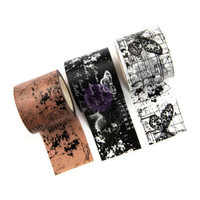 Prima Marketing - Prima Traveler's Journal Washi Tape - Set of 3 - Butterfly Notes (Inked Maps)