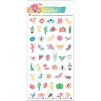 American Crafts - Amy Tangerine - Sunshine & Good Times - Puffy Stickers - Mini Icons