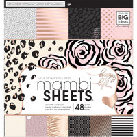 "Me and My Big Ideas - Single-Sided Paper Pad 12"" x 12"" - Black, White & Rose"