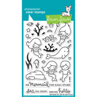 Lawn Fawn Clear Stamps - Mermaid for You