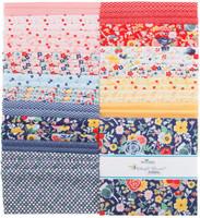 Riley Blake Fabrics Layer Cake - Midnight Blooms by Doohikey Designs