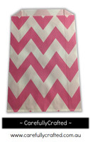 12 Favour Paper Bags - Chevron- Pink #FB41