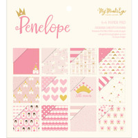 """My Mind's Eye - Double-Sided Paper Pad 6"""" x 6"""" - Penelope"""
