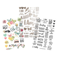 Carpe Diem - Simple Stories - I Am - Clear Stickers