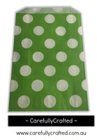 12 Favour Paper Bags - Polka Dot - Green #FB47