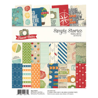 """Carpe Diem - Simple Stories - Double-Sided Paper Pad 6"""" x 8"""" - Travel Notes"""