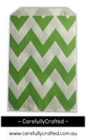 12 Favour Paper Bags - Chevron - Green #FB48