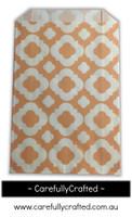 12 Favour Paper Bags - Mod Print - Peach #FB50