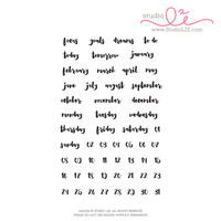 Studio l2e - Planner Stamps - Brush Dates