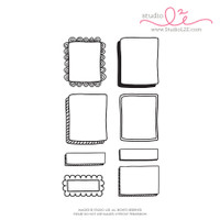 Studio l2e - Planner Stamps - Doodled Boxes