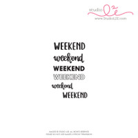 Studio l2e - Planner Stamps - Weekend
