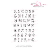 Studio l2e - Planner Stamps - Big Marble Alphabet