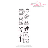 Studio l2e - Planner Stamps - Woodland Critters