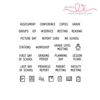 Studio l2e - Planner Stamps - Teacher Plans