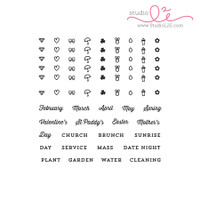 Studio l2e - Planner Stamps - Seasonal Plans - Spring