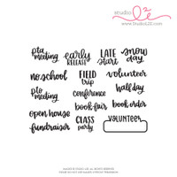 Studio l2e - Planner Stamps - School Reminders