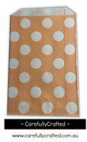 12 Favour Paper Bags - Polka Dot - Peach #FB53