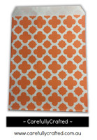 "12 Favour Paper Bags 5"" x 7"" - Quatrefoil - Orange #FB54"