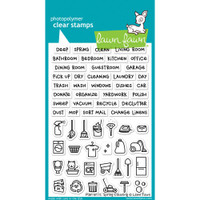 Lawn Fawn Clear Stamps - Plan On It - Spring Cleaning