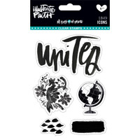 Illustrated Faith - All People All Nations Clear Stamps - Icons