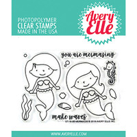 "Avery Elle Clear Stamp Set 4"" x 3"" - Mermaids"