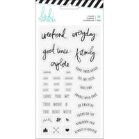 Heidi Swapp - Hawthorne Clear Stamps - Phrase