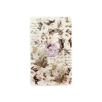Prima Traveler's Journal - Refill Notebook - Floral & Script - Personal Size