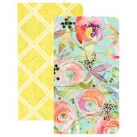 Webster's Pages - Traveler's Notebook Inserts - Trellis & Flowers - Standard (Lined/Blank) - Set of 2
