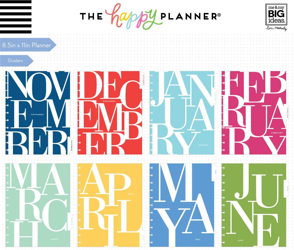 The Happy Planner - Me and My Big Ideas - 2018 - 2019 BIG Happy Planner® -  Colorblock Type / HORIZONTAL