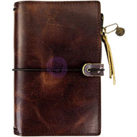 Prima Traveler's Journal - Leather Essential - Mocha Brown - Personal
