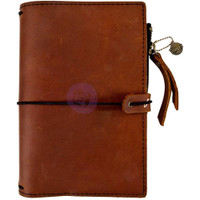 Prima Traveler's Journal - Leather Essential - Rust Brown - Personal