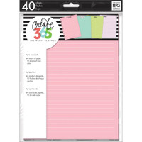 The Happy Planner - Me and My Big Ideas - Classic Refill Note Paper - Full Sheet - Coloured (Checklist)