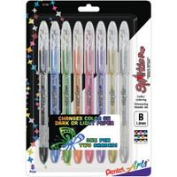 Pentel Sparkle Pop Metallic Gel Pens 1.0mm - Set of 8