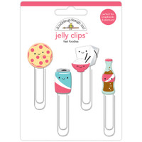 Doodlebug - Jelly Clips - Fast Foodies - Set of 4