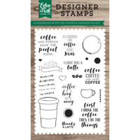 Echo Park Paper - Stamps - Coffee & Friends