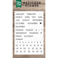 Echo Park Paper - Stamps - Calendar Essentials