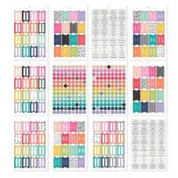 Carpe Diem - Simple Stories - A5 Sticker Book - Tabs