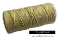 Baker's Twine 8 Ply - 100 Metre (110 Yards) Spool - Yellow and White #BT8-5