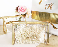 Bridesmaid Make Up Bags - Gold Cosmetic Bag