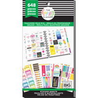 Me and My Big Ideas - The Happy Planner - Value Pack Stickers - Teachers Rule - Big (#648)
