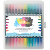 Artiste Permanent Dual Tip Pens - Set of 12