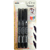 Le Pen Extra Fine, Fine, & Bold Points - Black - Set of 3