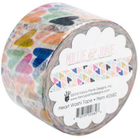 Millie & June - Washi Tape 24mm x 10mtr - Hearts