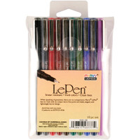 Le Pen - Dark - Planner Pens - Assorted Colours - Set of 10
