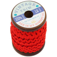 Riley Blake Designs - Lori Holt of Bee in my Bonnet - Small Vintage Trim - Red - 1/4 inch x 12 Yards